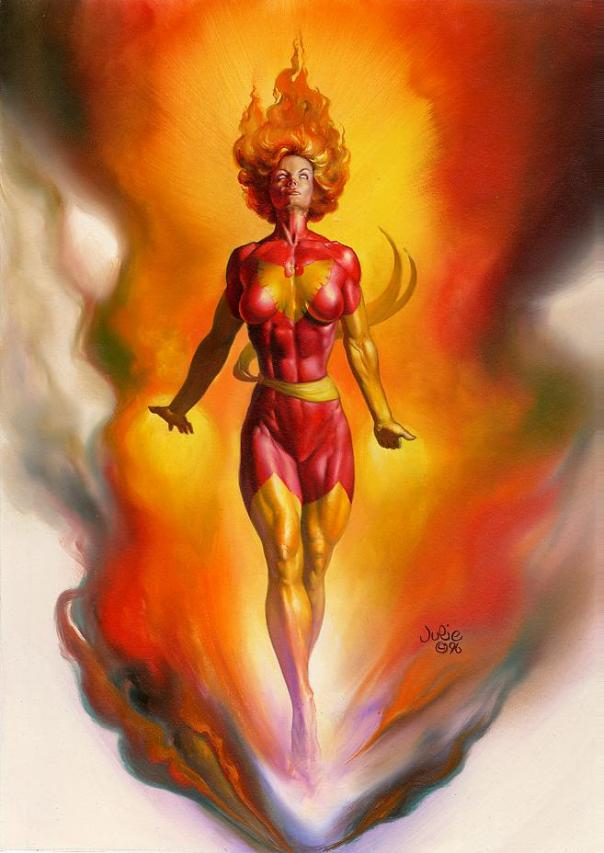 Julie Bell Jean Grey as Phoenix