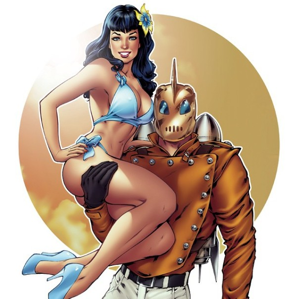 Elias Chatzoudis Rocketeer er Bettie Page