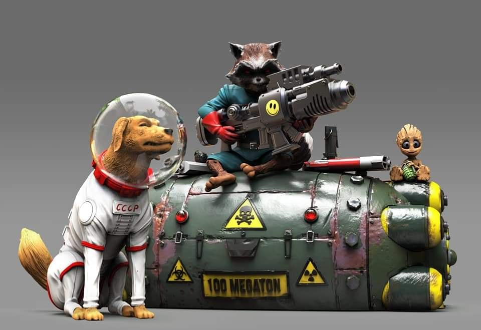 Rocket, Cosmo and Baby Groot
